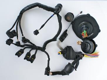 Kabel- und Steckerumguss